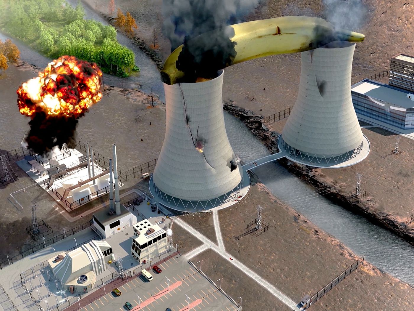Nuclear Banana 3D animation