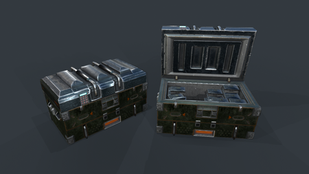 Military Crate With Ammo