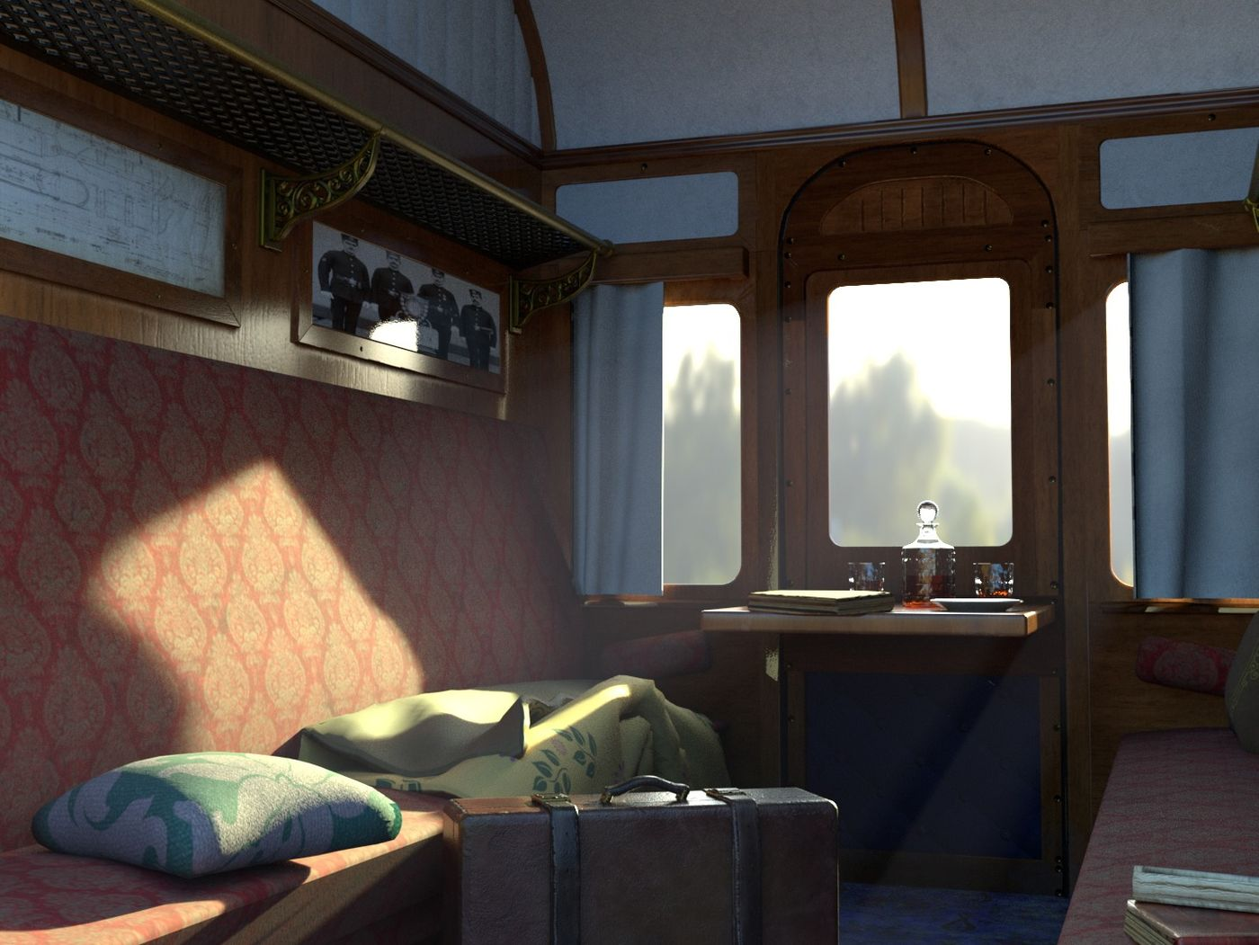 the railway passenger carriage.