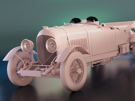 Bentley Le Mans 1928 -Remains of the past