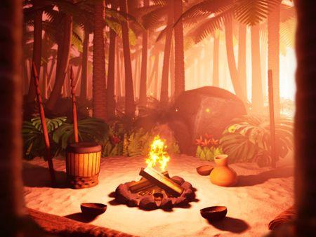 Tropical Island Campfire