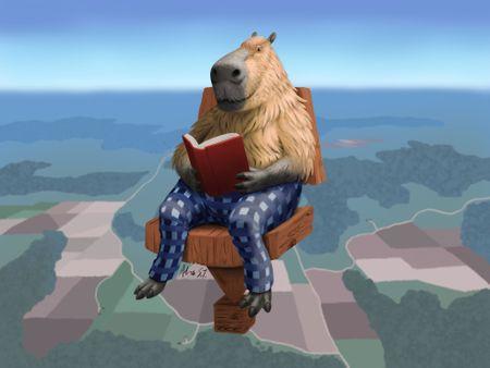 Relaxed Capybara