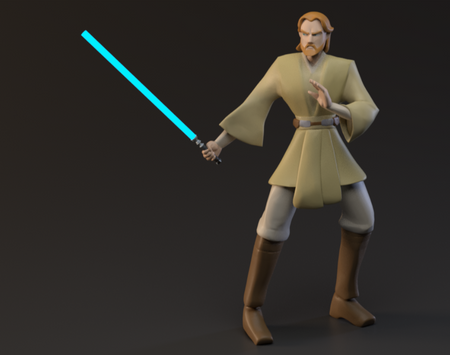 Obi Wan Model (Clone Wars Style)