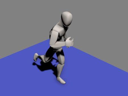 Running Strong man