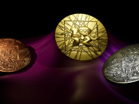 The medals for 2012 Olympic games in London