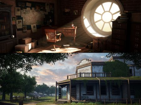 Detective's Room and Morgan's Saloon