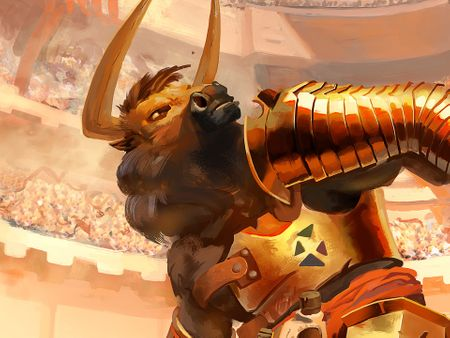 The gladiator minotaur