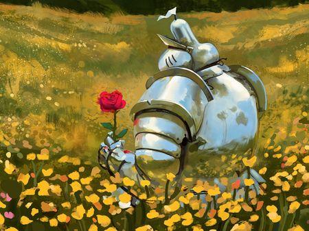 Romantic knight...