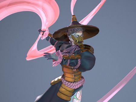 Haunted samurai doll