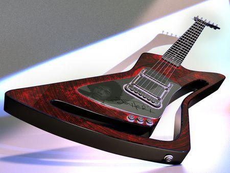 Jimi Hendrix tribute guitar
