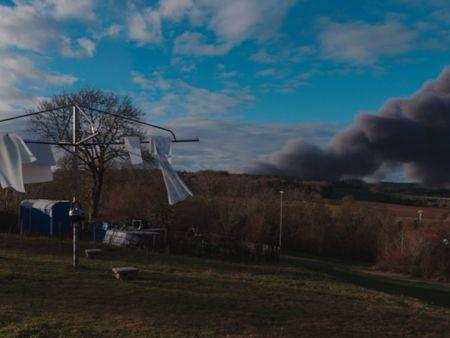Clothesline and Bushfire Smoke Shot