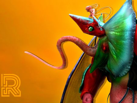 Mongo Lizard-man and mingling