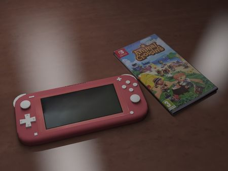 Nintendo Switch lite coral modeling