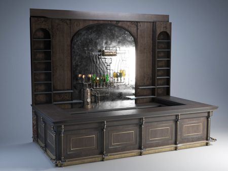 Steampunk Bar Counter