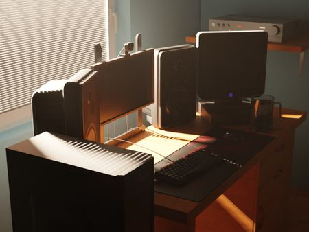 3D modeled a replica of my current Work Area