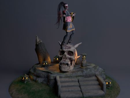 Aiko Demon Hunter - Diorama