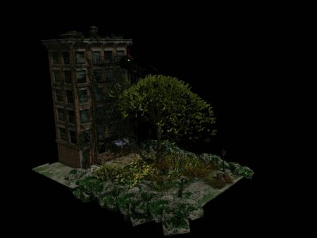 New York Spider Nest Diorama