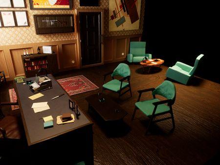 Soviet Office Diorama