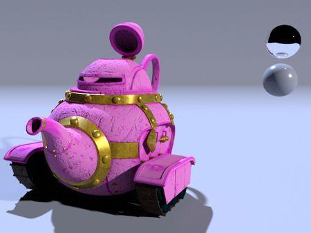 Teapot Tank Texture and Light
