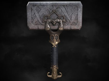 God Of War -  FanArt - Mjolnir the Thorhammer