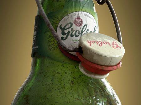 Dirty Grolsch bottle