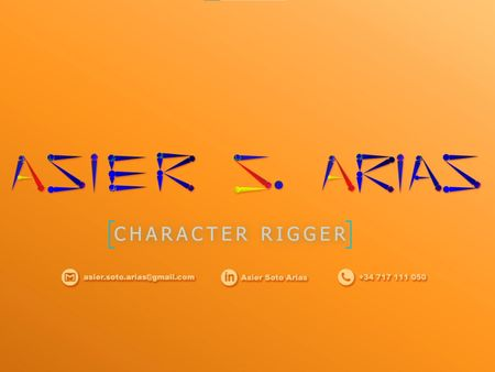 Reel character rigger Asier Soto Arias