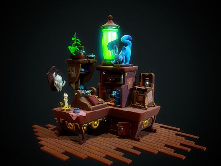 STYLISED SCIENTIST DESK