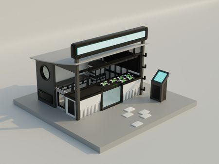 Futuristic weapons shop