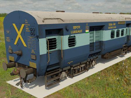 ICF Indian Railway Coached 3D model