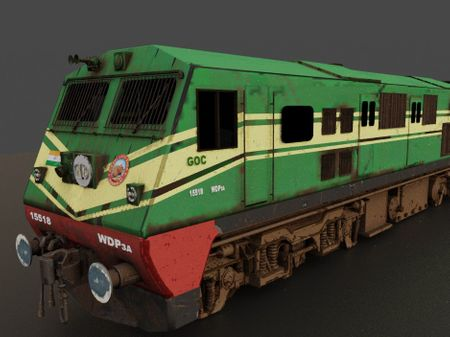 WDP3A Indian Railway Locomotive for Indian Train Simulator