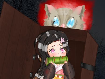 Demon Slayer Nezuko and Innosuke
