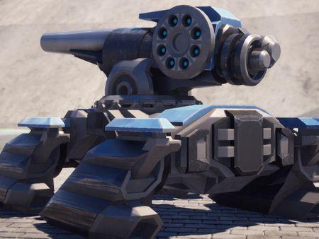 Quadrupedal Skid Tank