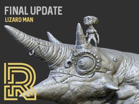 LIZARD MAN - High Resolution Sculpt