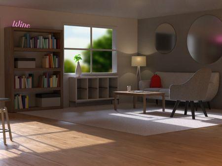 Adobe Substance 3D Stager - Living Room