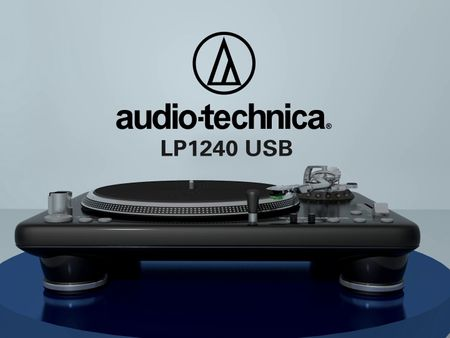 3D Audio Technica Mock Advertisement LP1240 USB