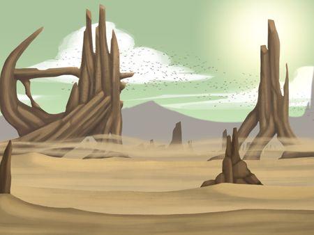 Desert Landscape Concept Art