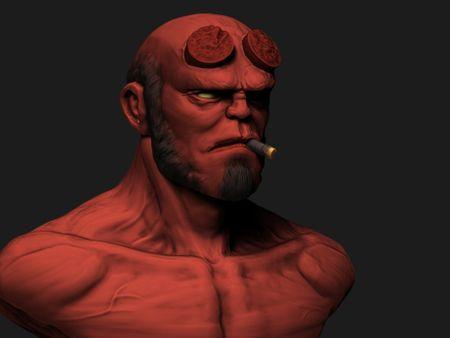 Hellboy Bust Sketch