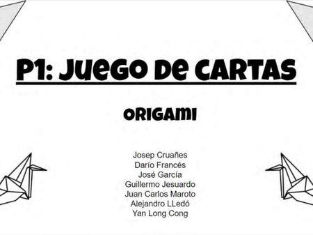 Juego de cartas Origami
