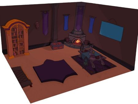 Habitación personaje en perspectiva