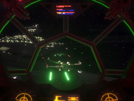 Star Wars space battle - Tie Fighter perspective