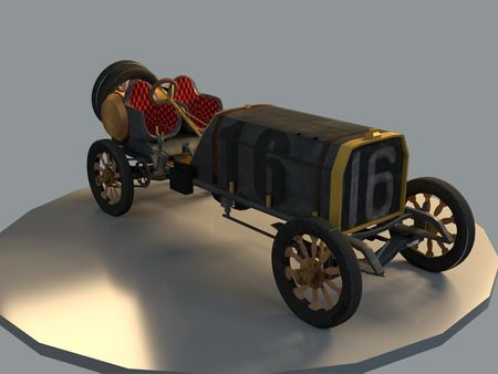 """Old 16"" Locomobile Race Car"