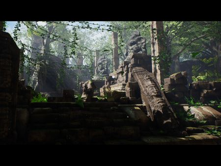 Exterior Environment (Jungle inspired in Star Wars Battlefront II)/Project04