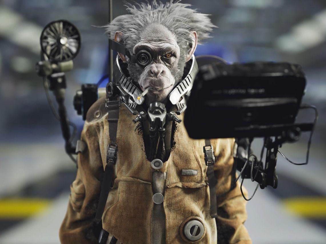 3D Character Space Ape - Dat Matthias Nguyen