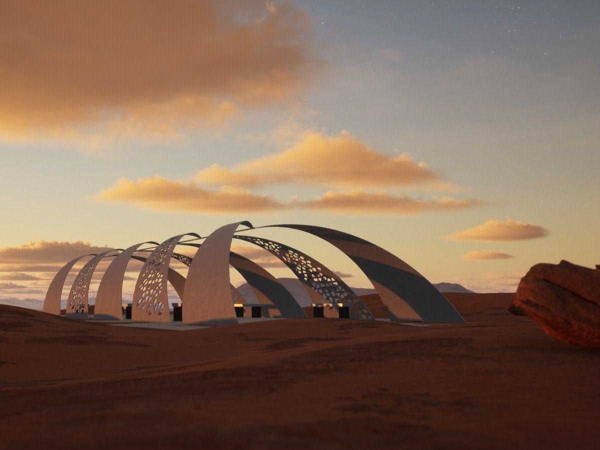 Pergola in the desert