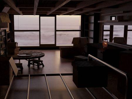 interior watching the sea