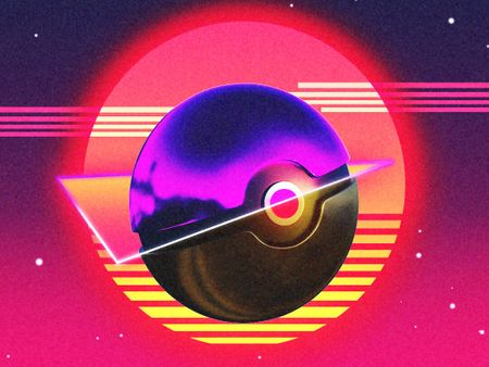 Synthwave Pokeball (Pokemon)