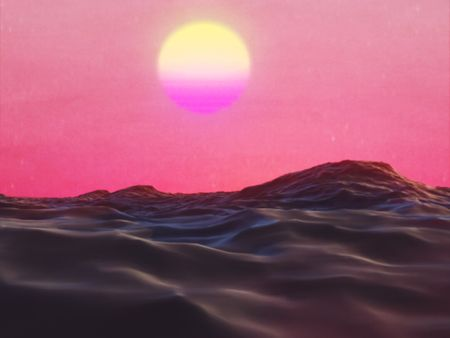 Synthwave Sea