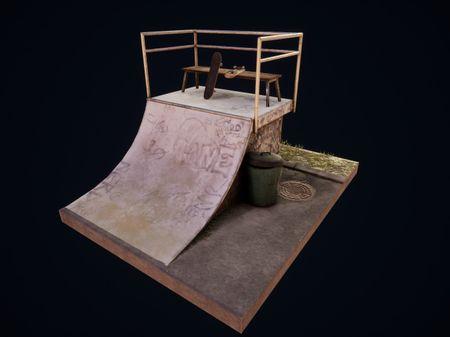 Skateboard Diorama