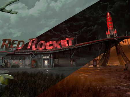 Fallout 4 Red Rocket Gas Station