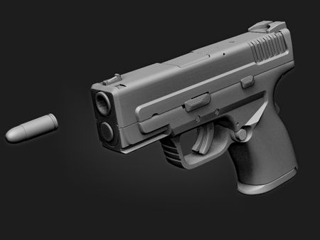 [WIP] Game-Ready asset - Handgun